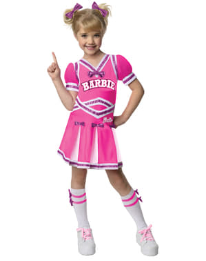 Barbie cheerleader costume for a girl