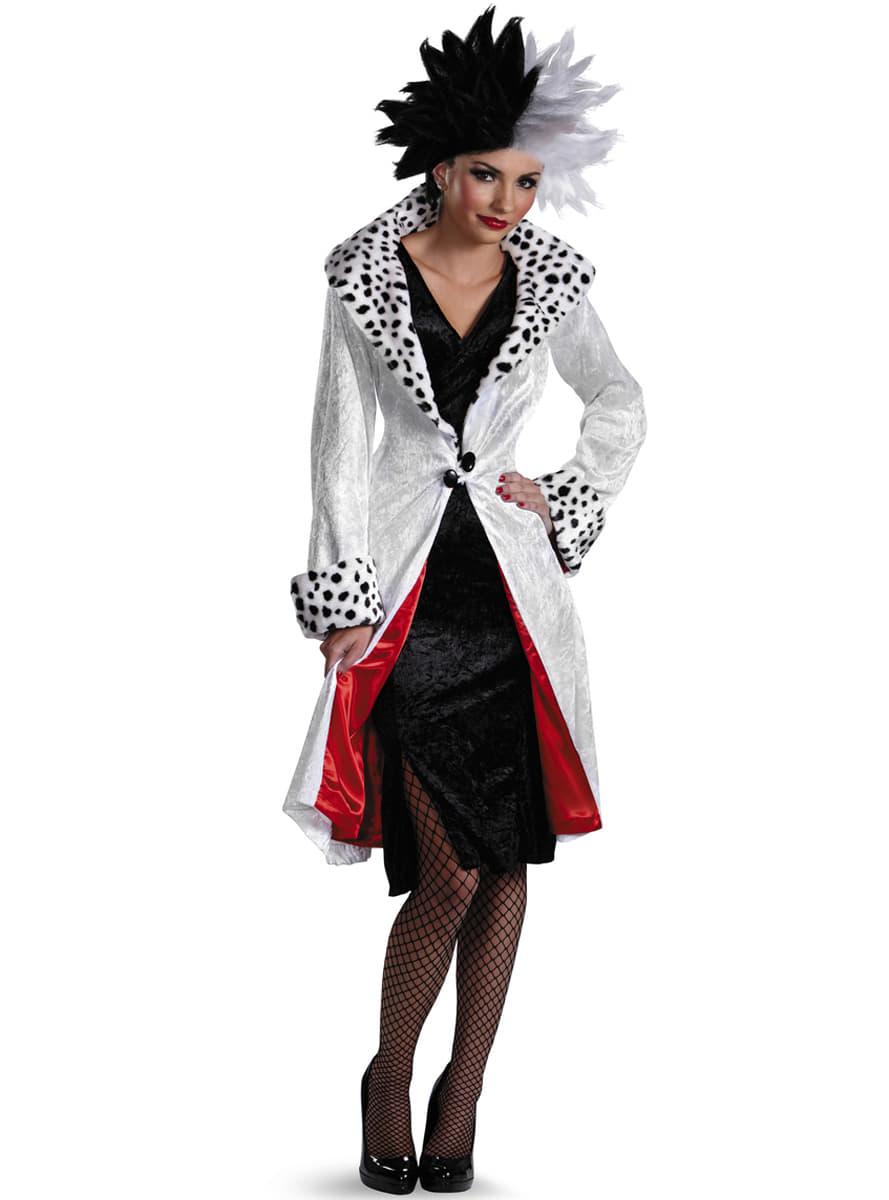 womens cruella de vil 101 dalmatians costume. Black Bedroom Furniture Sets. Home Design Ideas