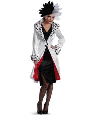 Fato de Cruella De Vil d'Os 101 dálmatas para mulher