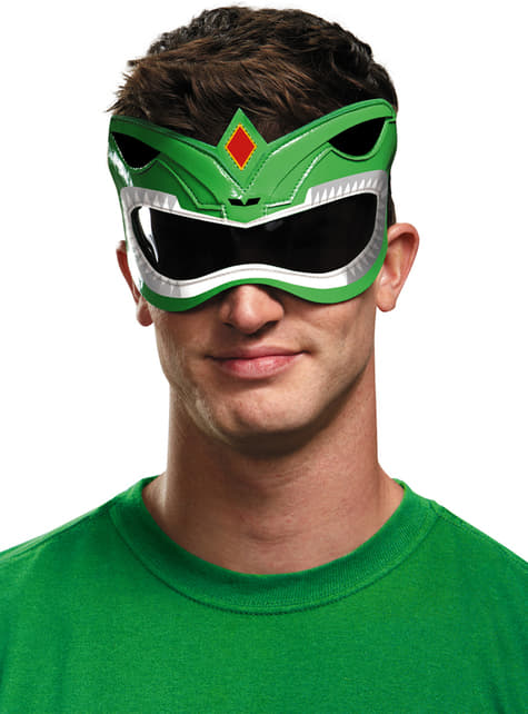 Antifaz de Power Ranger Mighty Morphin verde para adulto