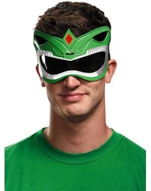 Mighty Morphin Power Ranger Augenmaske grün für Erwachsene