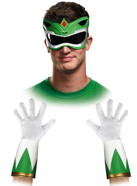 Kit accesorios Power Rangers Mighty Morphin verde para adulto