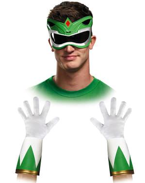 Orang Dewasa Green Mighty Morphin Power Ranger Accessories Kit