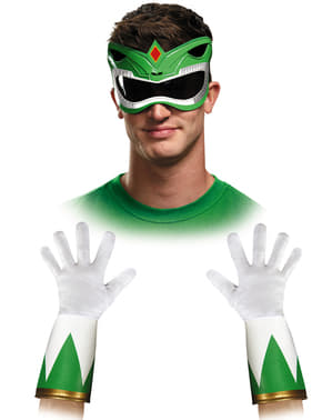 Kit accesorios Power Rangers Mighty Morphin verde para adulto