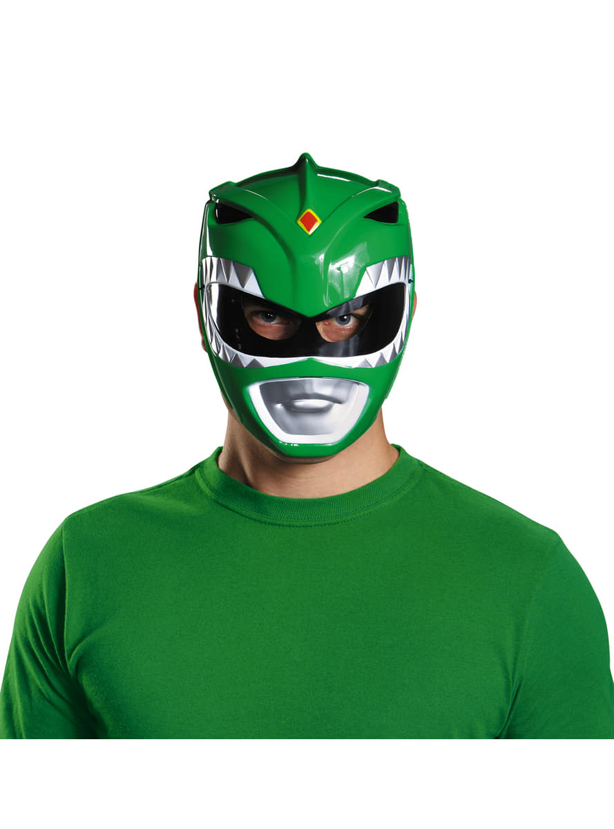 Adults Green Mighty Morphin Power Ranger Mask
