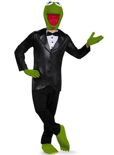 Déguisement Kermit la grenouille The Muppets deluxe adulte