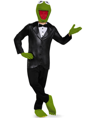 Costum Kermit Broscoiul The Muppets deluxe pentru adult