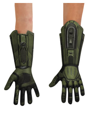Deluxe Aikuisten Halo Master Chief -käsineet