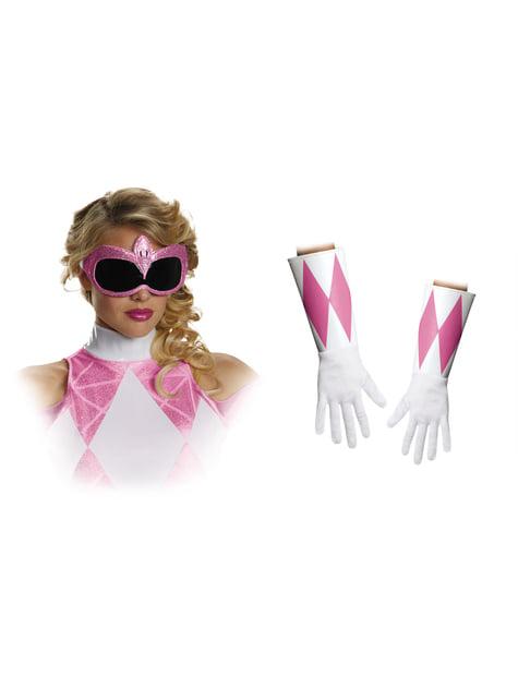 Accessoire kit roze Power Ranger Mighty Morphin voor volwassenen
