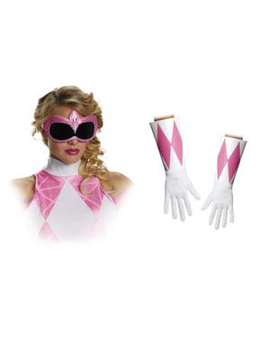 Conjunto acessórios Power Rangers Mighty Morphin cor-de-rosa para adulto