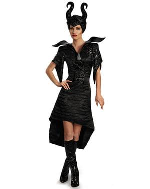 Maleficent Kostüm mit Hörnern Die Dunkle Fee glam