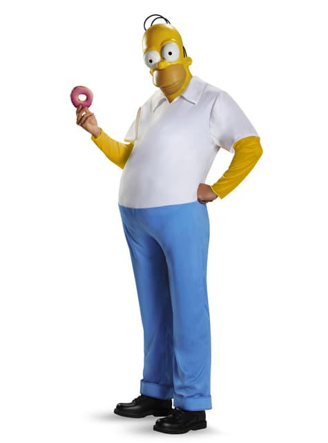 Fato de Homer Simpson deluxe para homem