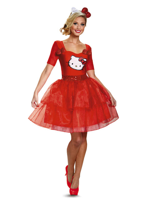 Womens Hello Kitty Costume Dress