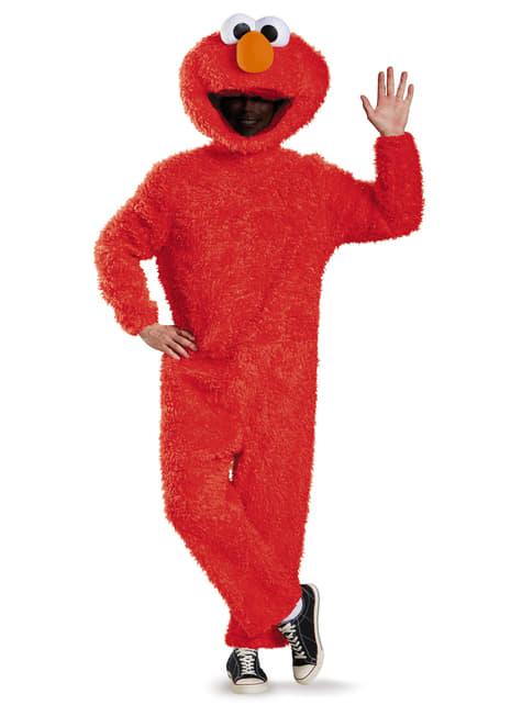 Sesamgade Elmo deluxe kostume til voksne