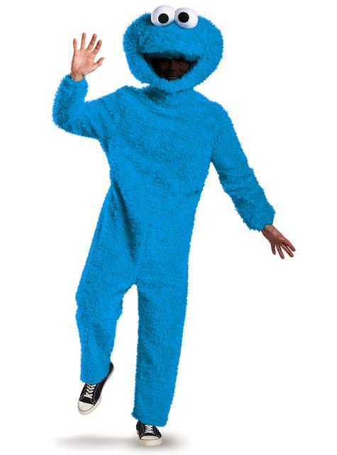Disfraz de Monstruo de las Galletas Barrio Sésamo cuerpo completo para adulto