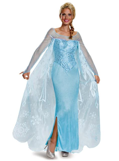 Disfraz de Elsa Frozen prestige para mujer