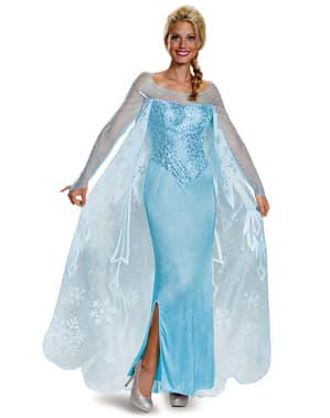 Fato de Elsa Frozen prestige para mulher