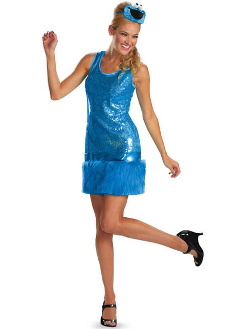 Vestido disfraz de Monstruo de las Galletas Barrio Sésamo para mujer