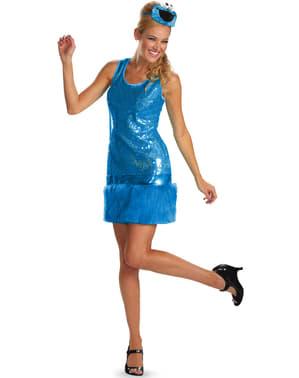 Vestido fato de Monstro das Bolachas da Rua Sésamo para mulher