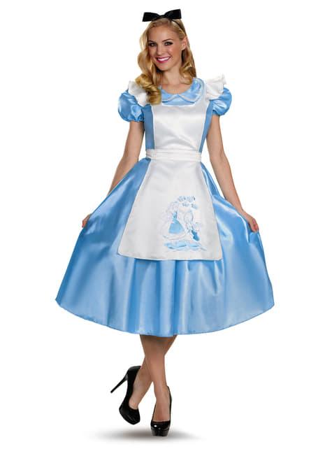 Alice in Wonderland deluxe Kostuum voor vrouw