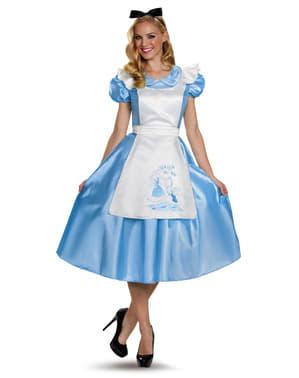 Fato de Alice no País das Maravilhas deluxe para mulher