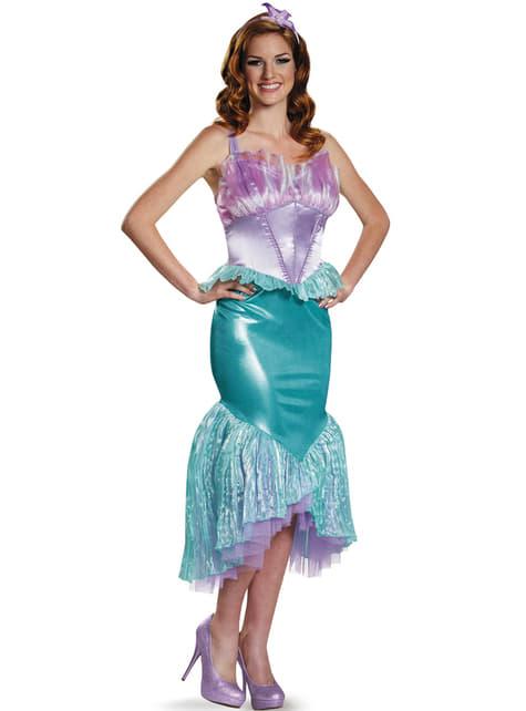 महिला एरियल द लिटिल मरमेड डीलक्स पोशाक