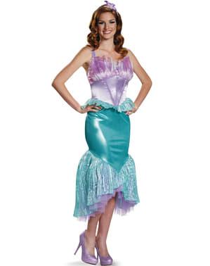 Fato de Ariel, A Pequena Sereia deluxe para mulher