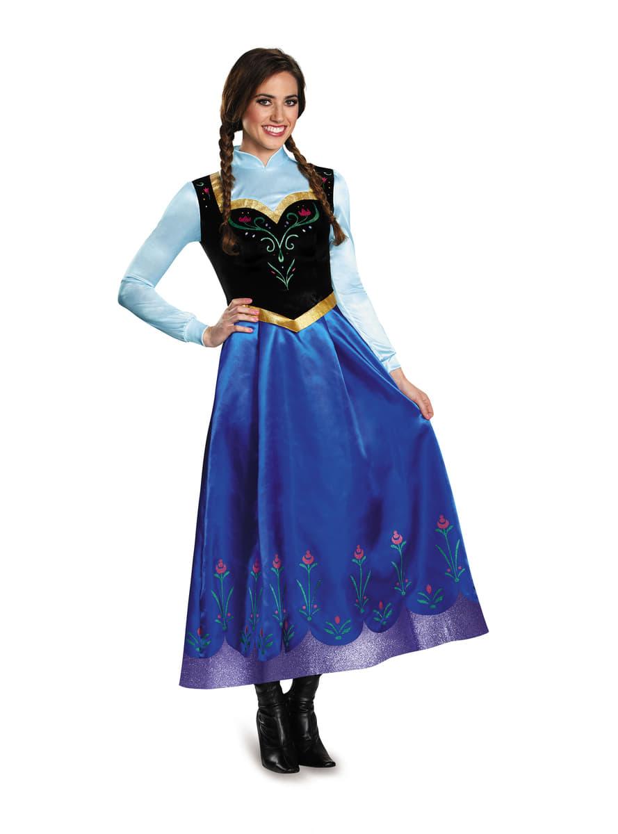 Costume anna la reine des neiges prestige femme funidelia - Anna la reine des neige ...