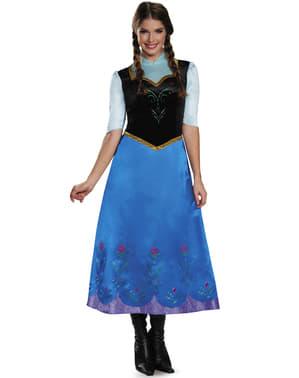 Costume Anna Frozen deluxe donna