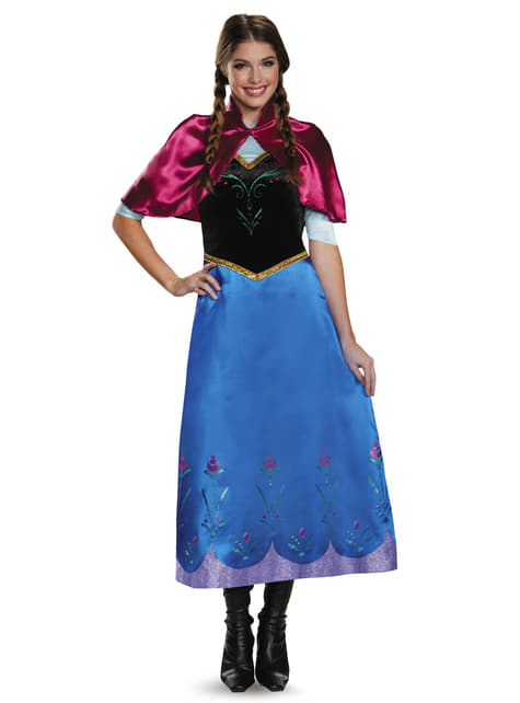 Womens Anna Frozen Deluxe Costume