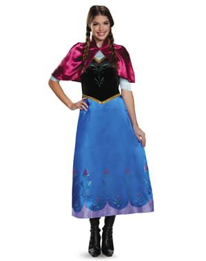 Costum Anna Regatul de gheață (Frozen) deluxe pentru femeie