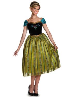 Costum Anna Regatul de gheață (Frozen) Încoronarea deluxe pentru femeie