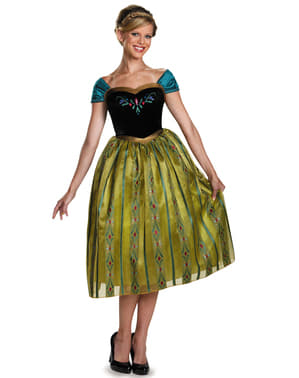 Ženska Anna Frozen Coronation Deluxe kostim