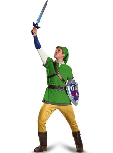 Disfraz de Link de La leyenda de Zelda deluxe para adulto