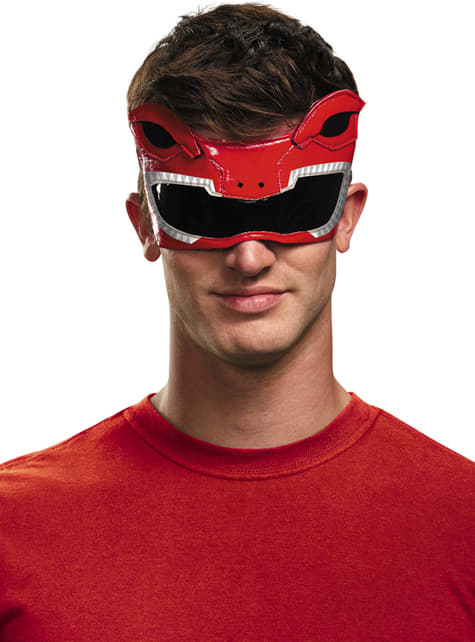 Antifaz de Power Ranger Mighty Morphin rojo para adulto