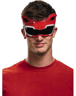 Rote Mighty Morphin Power Ranger Augenmaske für Erwachsene