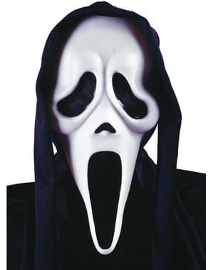 Máscara de fantasma Gritos com capuz