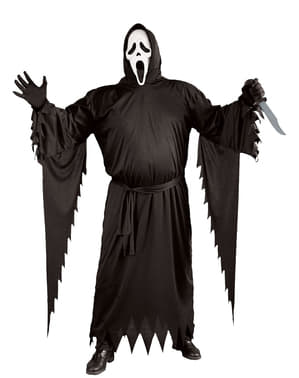 Spøkelses Ansikt plus size kostyme Mann