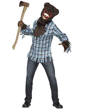 Fato de urso psicopata para adulto