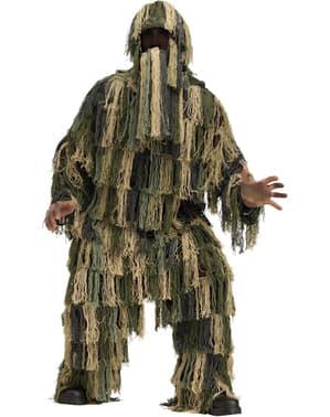 Disfraz de traje ghillie para adulto