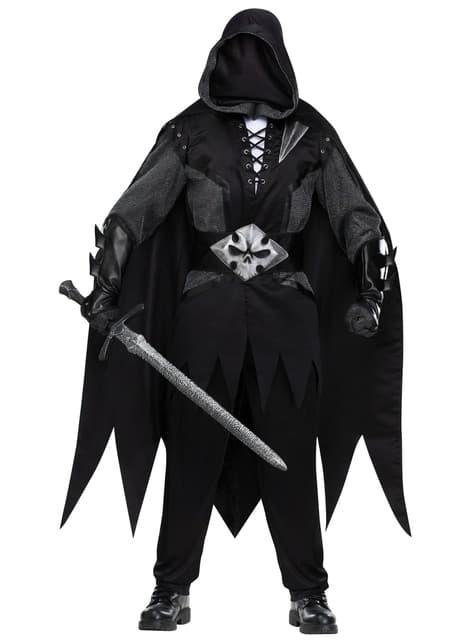 Disfraz de fantasma de la oscuridad para hombre