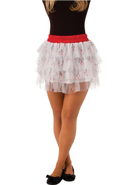 Teen girls Harley Quinn skirt with sequins