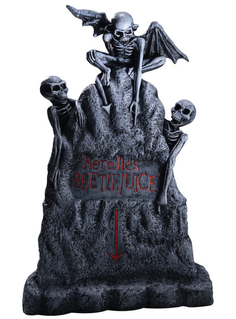 Beetlejuice tombstone decorative figure