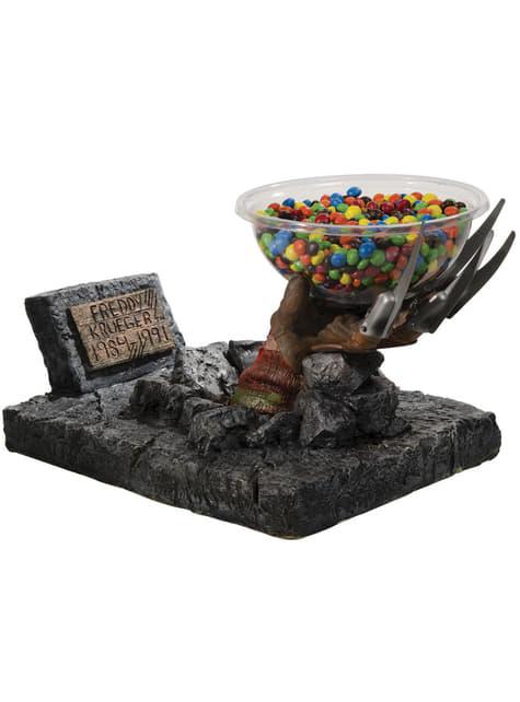 Freddy Krueger tomb candy bowl holder