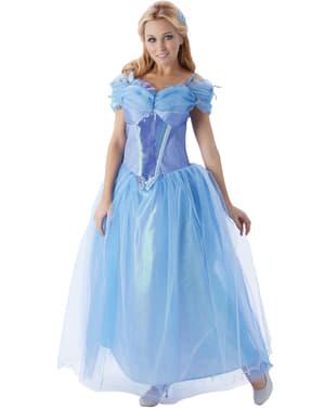 Glänzendes Aschenputtel Kostüm für Damen