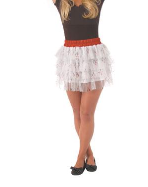 Falda con lentejuelas de Harley Quinn para mujer