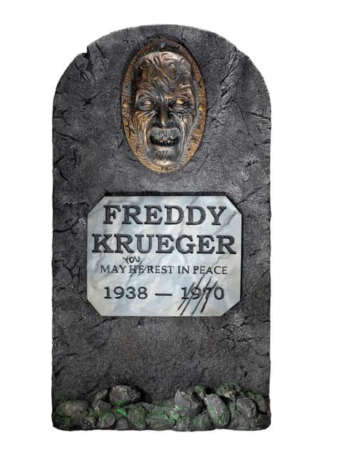 Tumba decorativa de Freddy Krueger Pesadilla en Elm Street