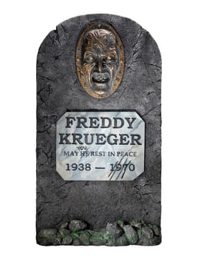 Tombe décoration Freddy Krueger Les Griffes de la nuit