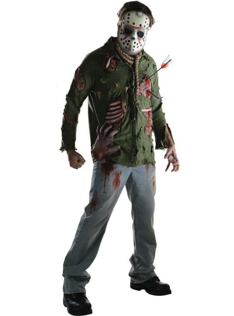 Morder Jason Fredag den 13. Deluxe Kostyme Mann