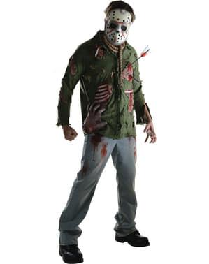 Fato de Jason assassino deluxe Sexta-Feira 13 para homem